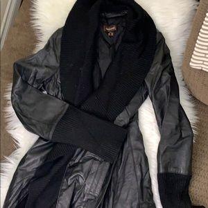 Danier Leather jacket with wool trim